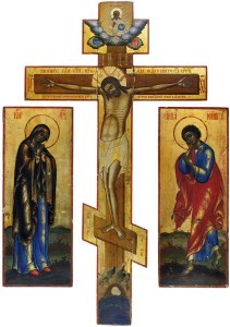 Иоанн Богослов с распятым Христом