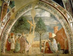 Ираклий вносит Крест Господень