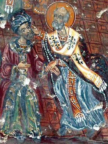 Картинки по запросу чудо о трех стратилатах Святителя Николая Непотиана, Урса и Герпилиона.