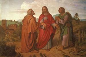 Христос с Лукой и Клеопой