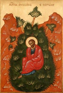 Иоаким молится в пустыне