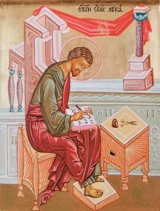 Лука пишет Евангелие