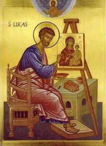 Лука пишет икону Божией Матери