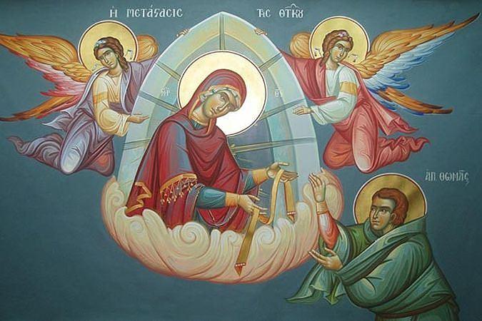 Обретение пояса Пресвятой Богородицы апостолом Фомой