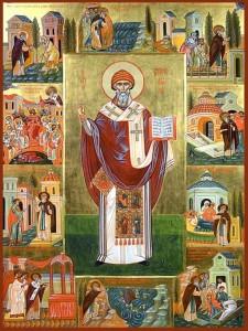 Большая икона Спиридона Тримифунтского