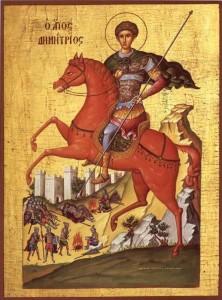 Дмитрий Солунский на коне