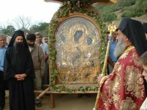 Икона в монастыре Дохиар