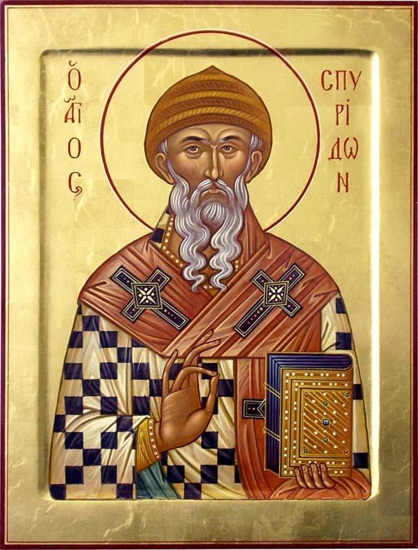 Молебен с акафистом святителю Спиридону Тримифунтскому