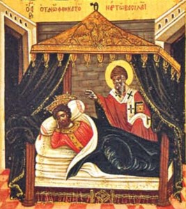 Спиридон Тримифутский лечит императора